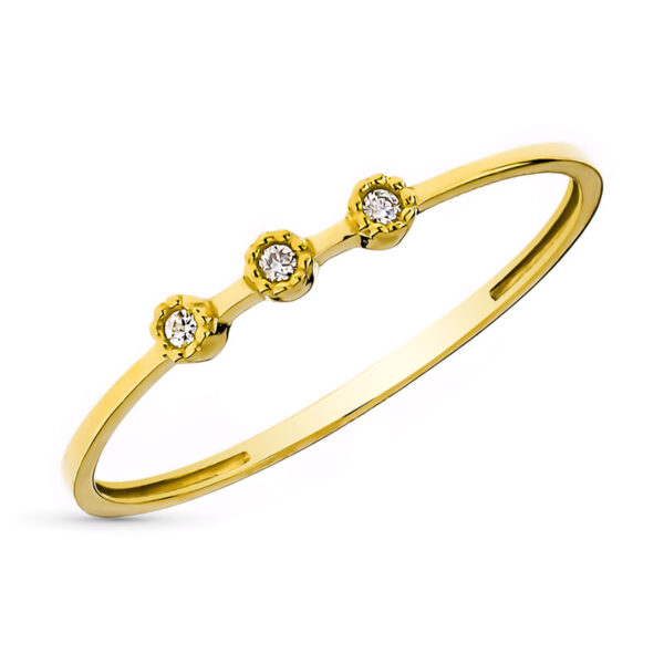 Anillo diamante Clasic Gold oro de 18 quilates