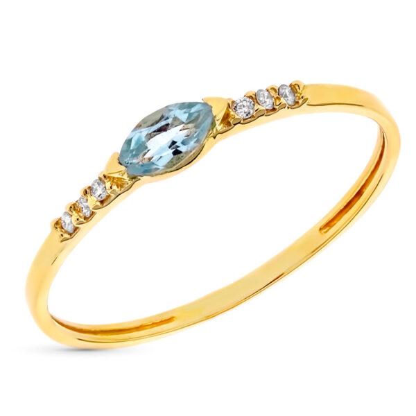 Anillo diamante Océano