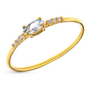 Anillo diamante Natura oro de 18 quilates