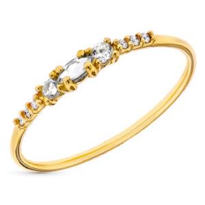 Anillo diamante Basic oro 18 quilates