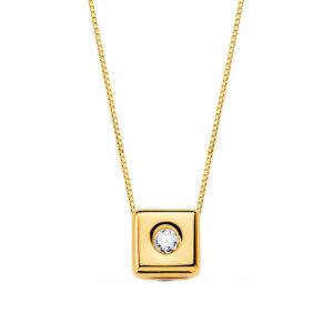 Gargantilla de diamante en oro de 18k