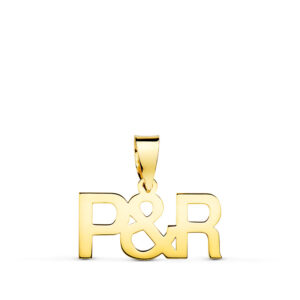 Colgante iniciales oro