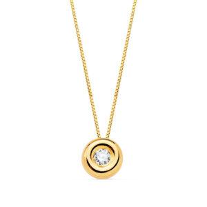 Gargantilla de diamante en oro amarillo de 18k