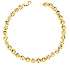 pulsera riviere en oro amarillo y diamantes