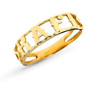Sortija nombre oro