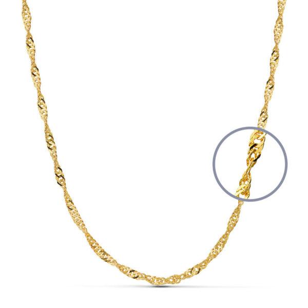 cadena Singapur oro 45 cm