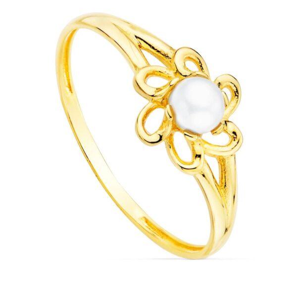 anillo oro primera comunión