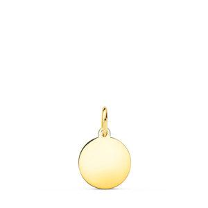 Medalla de oro lisa 9 mm