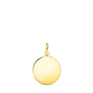 Medalla de oro lisa 12 mm