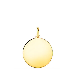 Medalla de oro lisa 15 mm
