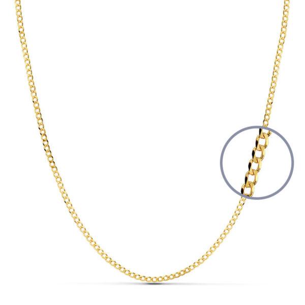 cadena barbada oro 50 cm