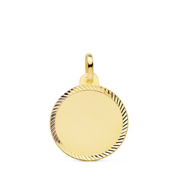 Medalla de oro lisa borde