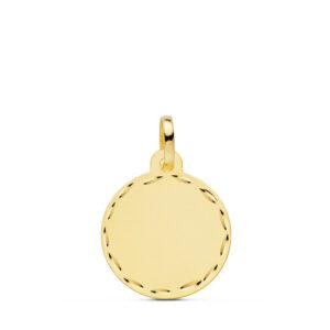 medalla de oro lisa tallada