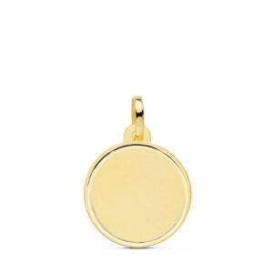 Medalla oro lisa borde