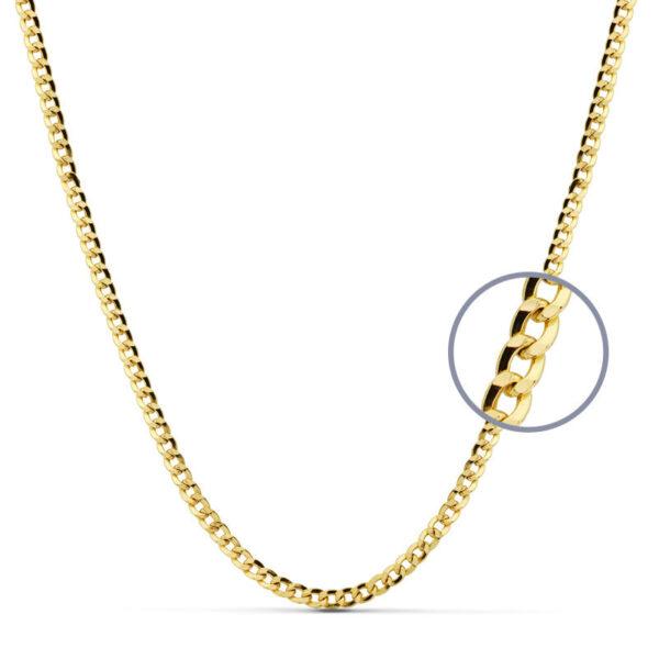 cadena barbada oro 60 cm