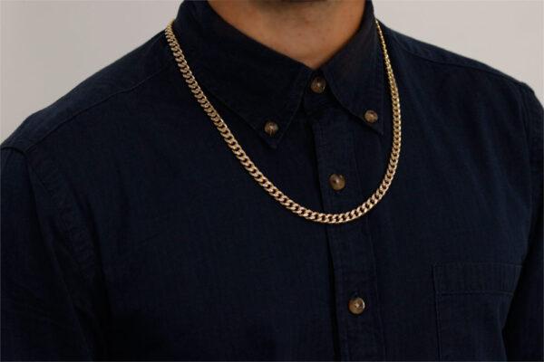 cadena de oro hombre adiamantada