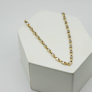 Cadena de oro combinada