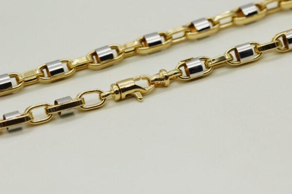 Cadena de oro combinada cierre