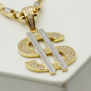 Colgante de oro Dollar
