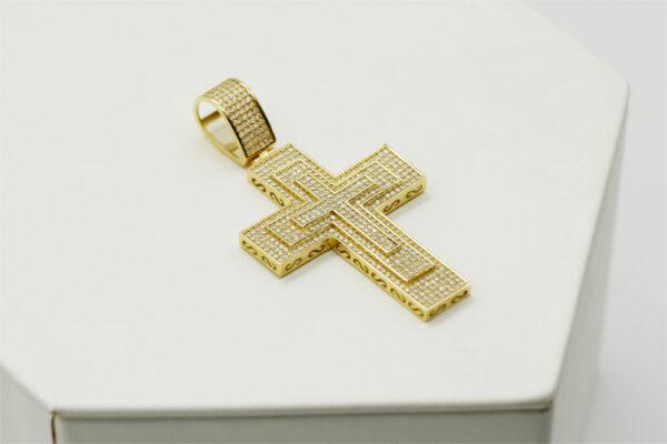 Cruz de oro circonio