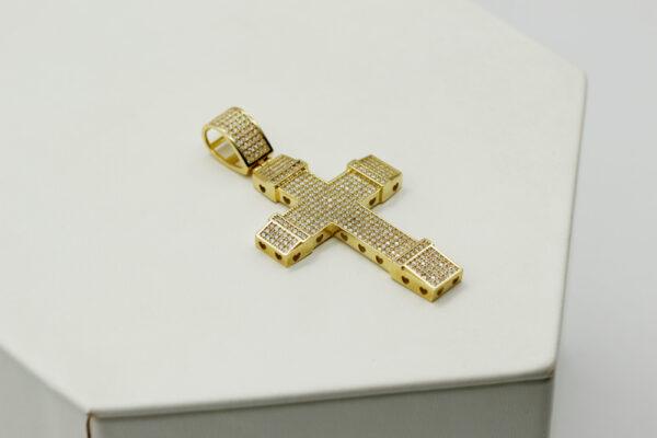 Cruz de oro Circonita