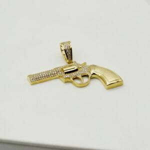 Colgante Pistola de oro circonita