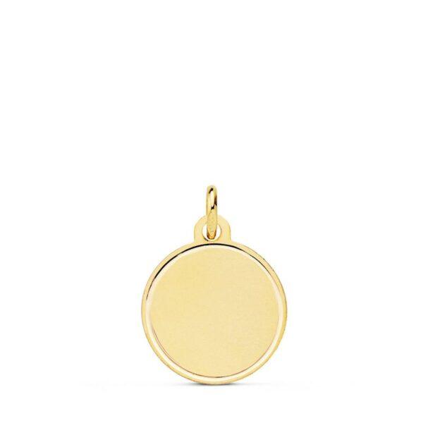 Medalla de oro lisa bisel
