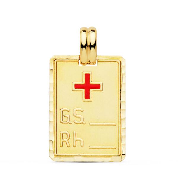 Placa médica oro