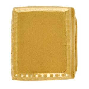 Sello de oro grande plano