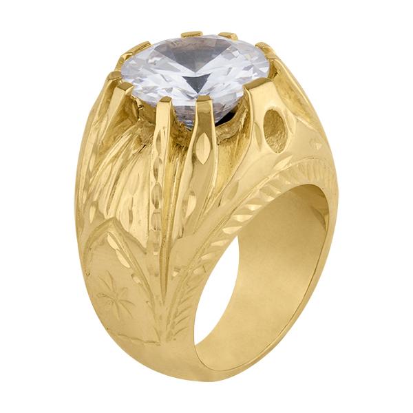 Sello de oro grande circonita