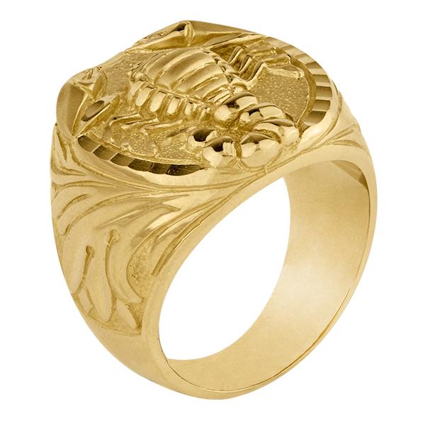 Sello de oro grande escorpión