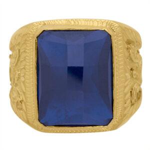Sello de oro grande Zafiro