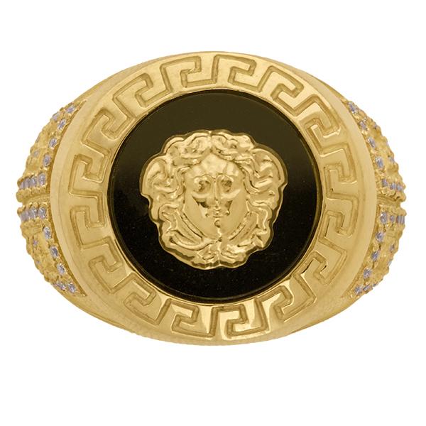 Sello de oro grande Versace classic
