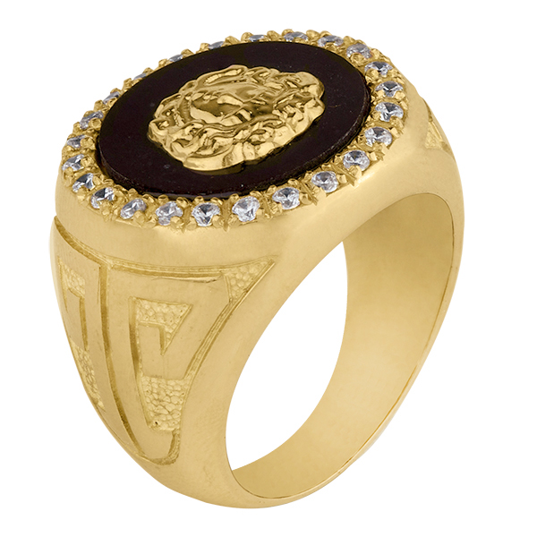 Sello de oro hombre Versace