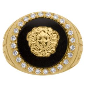 Sello de oro versace circonita