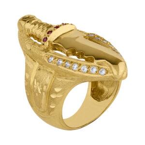 Sello de oro hombre - Puñal
