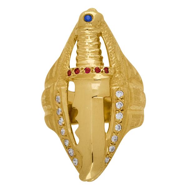 Sello de oro grande puñal