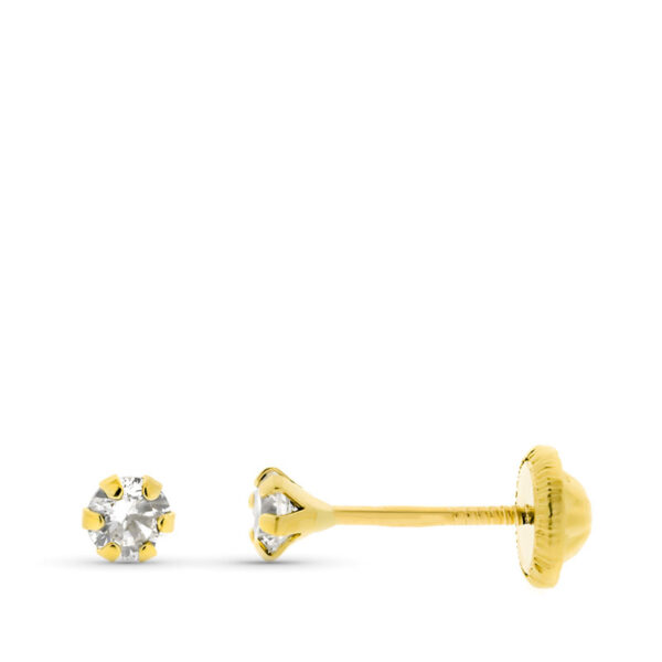 Pendientes de oro bebé circonio