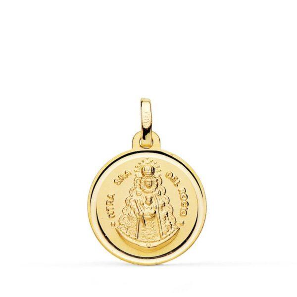 medalla virgen del rocío oro