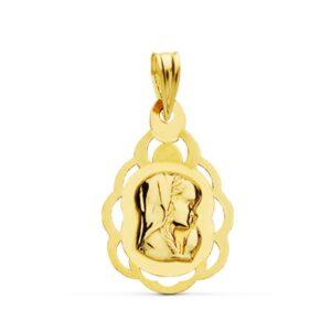 medalla virgen niña oro