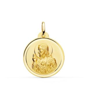 medalla sagrado corazón oro