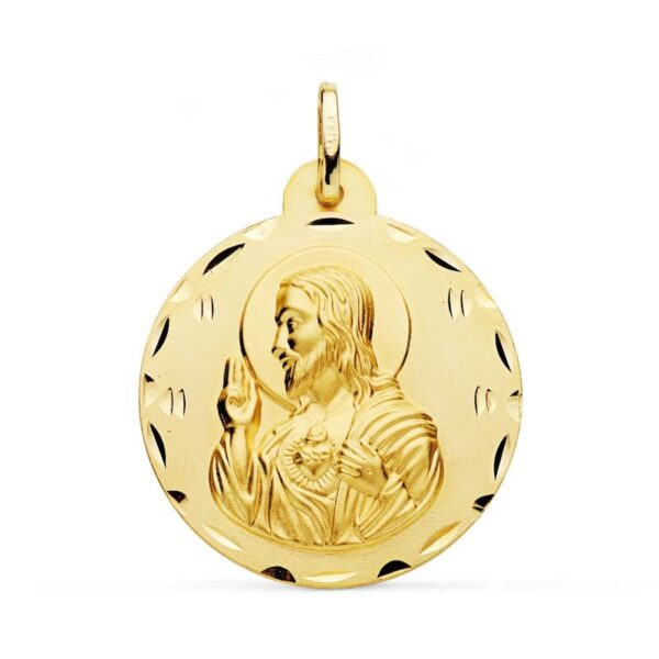 medalla corazón de jesus