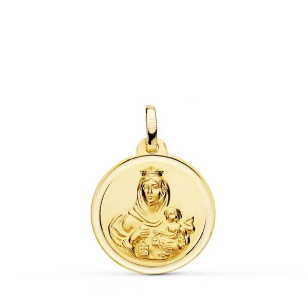 medalla virgen del carmen oro