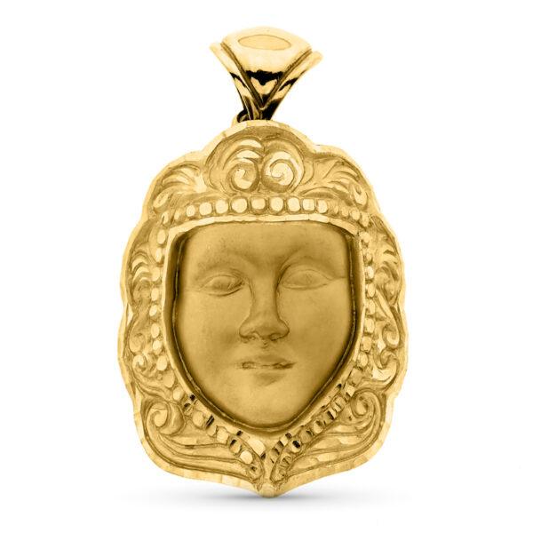 colgante virgen del rocío oro