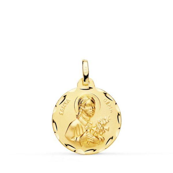 medalla santa Gema oro