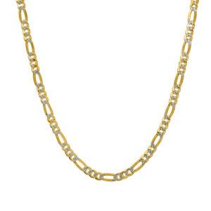 Cadena de oro tipo Cartier adiamantada