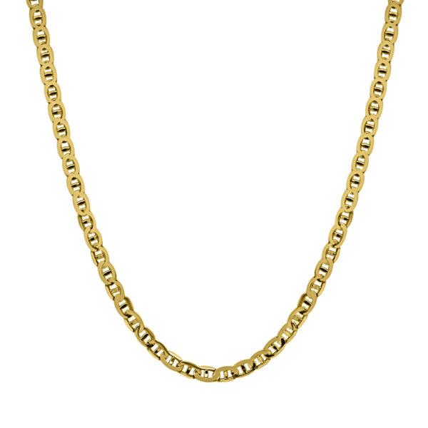 Cadena de oro plana