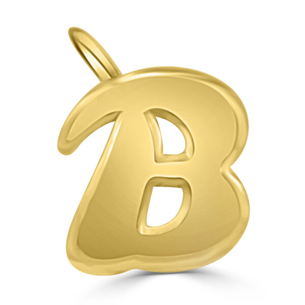 Colgante inicial oro - B
