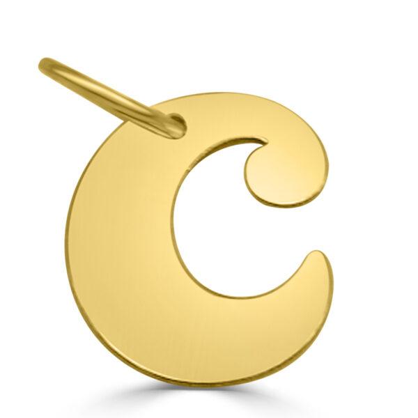 Colgante inicial oro - C