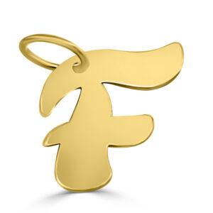 Colgante inicial oro - F